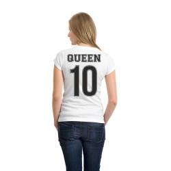 T-shirt donna QUEEN con numero personalizzabile