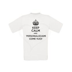 T-shirt uomo KEEP CALM AND personalizzabile