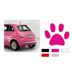 Kit adesivi impronta zampe cane e gatto stickers 40 x 40 mm auto moto furgone camion