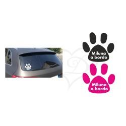 Adesivo cane e gatto a bordo personalizzato