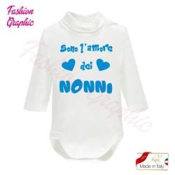 Body lupetto manica lunga amore dei nonni neonato neonata in caldo cotone