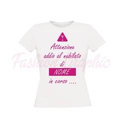 T-shirt festa addio al nubilato in corso personalizzabile con nome