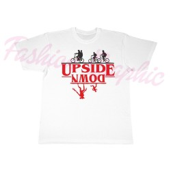 T-shirt stranger things upside down netflix uomo