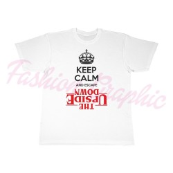 T-shirt keep calm upside down stranger things upside down netflix uomo
