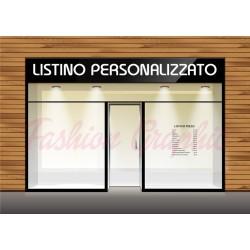 Adesivo listino negozio personalizzato per parrucchiere, estetista altre attività
