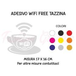 Adesivo wi-fi free libero tazzina caffè bar pub ristoranti