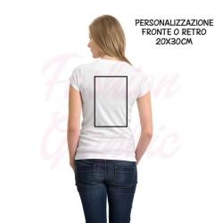 T-shirt uomo donna personalizzata stampa fronte o retro