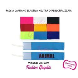 Fascia capitano elasticizzata modello neutro personalizzato con laccio per braccio