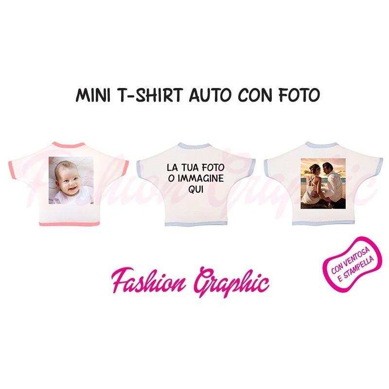 Mini t-shirt auto personalizzata con foto o immagine