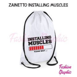 Zaino borsa sacca installing muscles palestra sport fitness