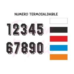 Numeri termosaldabili modello 3D maglie calcio, rugby, sport