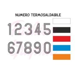 Numeri termosaldabili modello RIGATI H10cm maglie calcio, rugby, sport