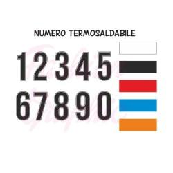 Numeri termosaldabili modello PROFILO H24cm maglie calcio, rugby, sport