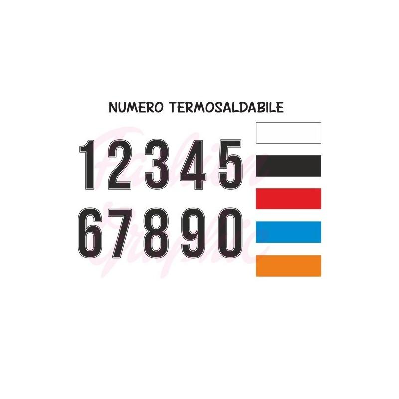 Numeri termosaldabili modello PROFILO H10cm maglie calcio, rugby, sport