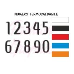 Numeri termosaldabili modello BN H10cm maglie calcio, rugby, sport