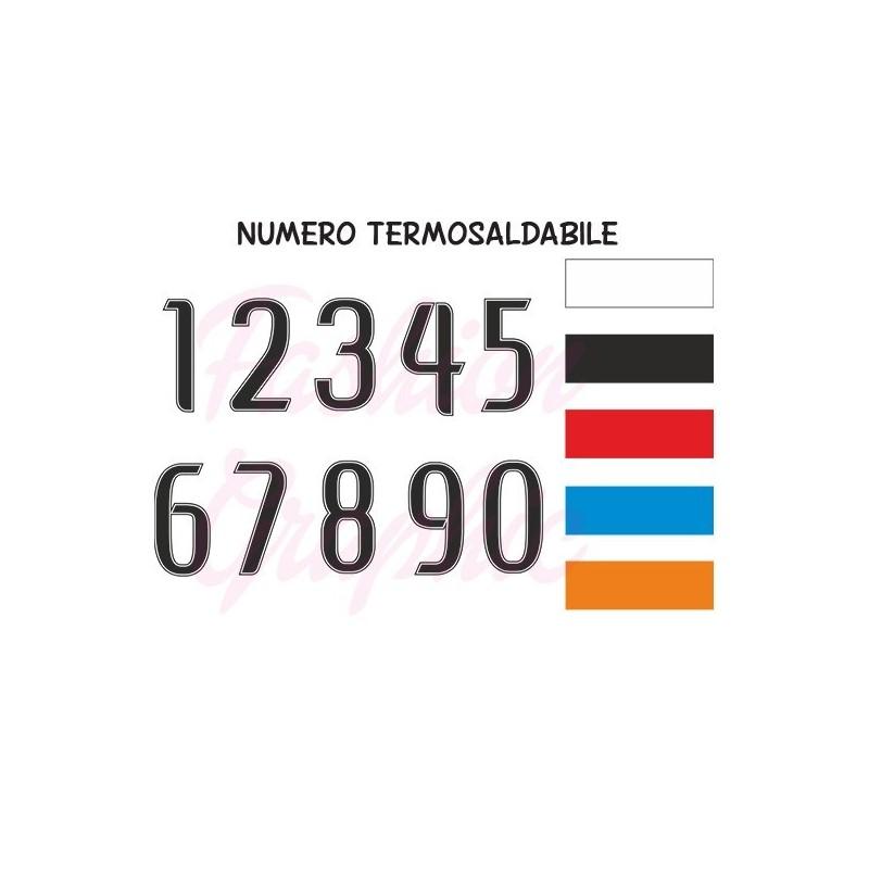 Numeri termosaldabili modello BN H24cm maglie calcio, rugby, sport