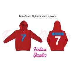 Felpa donna Seven Fighters Mila Shiro Pallavolo