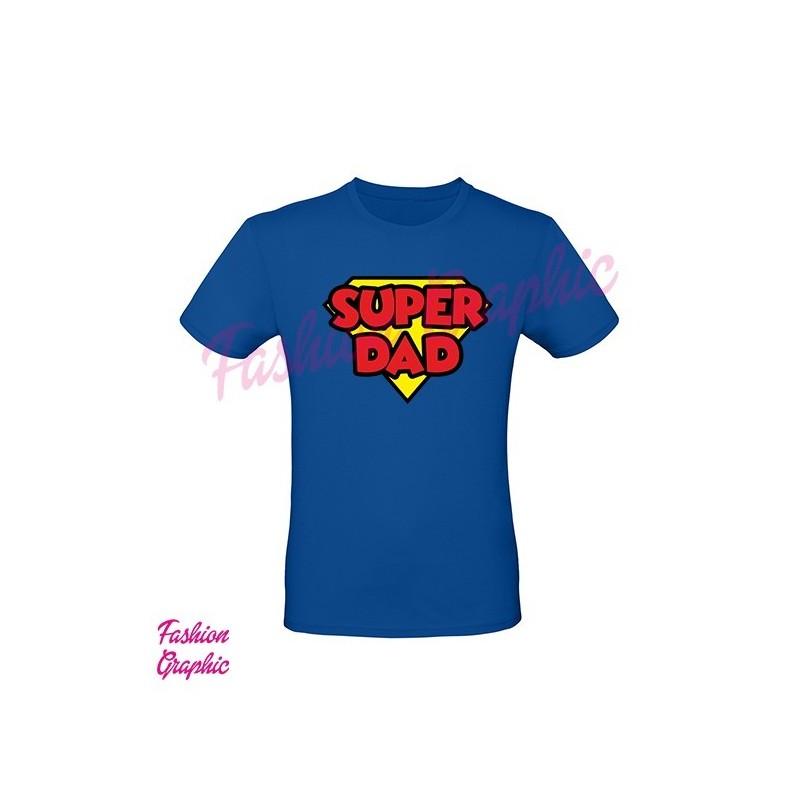 T-shirt Superdad Superpapà festa del papà superman inspired