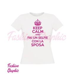 T-shirt keep calm fai un selfie con la sposa