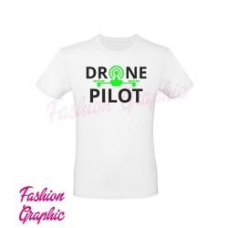 T-shirt Uomo Drone Pilot Pilota Dorni Pilota Apr Fluo