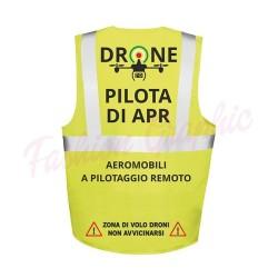 Gilet Alta Visibilità Multische modello Pilota di Apr Operatore Assistente SAPR Droni a norma di legge