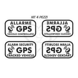 Adesivi antifurto satellitare gps stickers auto moto furgone camion