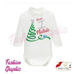 Body lupetto manica lunga il mio primo Natale neonato neonata in caldo cotone