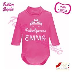 Body lupetto manica lunga principe principessa neonato in caldo cotone