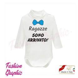 Body lupetto ragazze sono arrivato manica lunga neonato in caldo cotone made in italy
