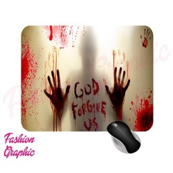TAPPETINO MOUSE ZOMBIE THE WALKING DEAD INSPIRED MOUSEPAD SERIE TV