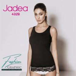 Canotta da donna canottiera spalla larga in cotone elasticizzato Jadea 4328