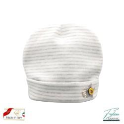 Cappellino neonato a strisce righe in cotone made in italy
