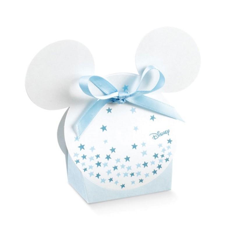 Kit scatoline portaconfetti stelline topolono in cartoncino per battesimo compleanno